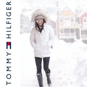 [TOMMY HILFIGER] White Puffer Jacket
